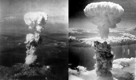 Mushroom Clouds Of Hiroshima (left) And Nagasaki (right