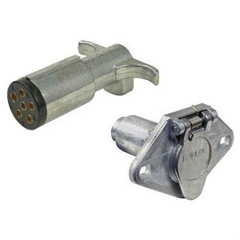 pollak 6 pole trailer connectors socket and plug kit six way arw 3 year warranty ebay