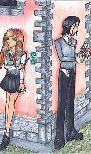 Severus Snape and Lily Evans by KakeruTamaki on DeviantArt