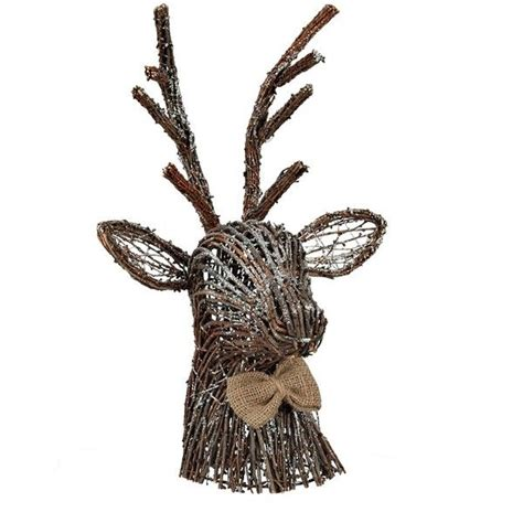 Rattan Deer Garden Decoration by Rattan Deer Tree Topper 22 Liked On Polyvore