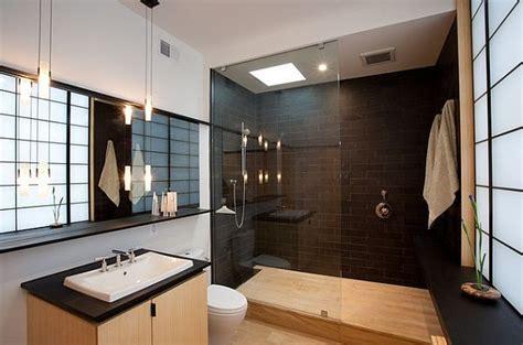 Badezimmer Ideen Asiatisch-inspiriert Fliesen Wand-dusche