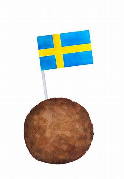 Swedish Sweden Meatball Flag Clip Country Culture
