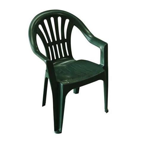 chaise de jardin plastique lot 4 chaises jardin en plastique vert elba achat