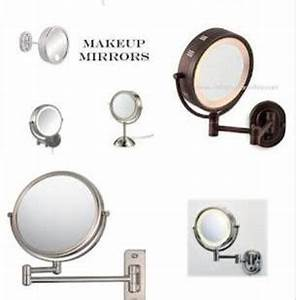 recommended lighted wall mounted makeup mirrors With pull out mirror bathroom