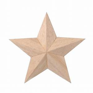 Unfinished Wood 3D Star Wooden Stars