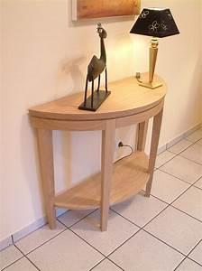 Eiche Massiv Tisch : halbrunder tisch wandtisch eiche massiv hell ge lt oder lackiert adraton mit ablageboden ~ Eleganceandgraceweddings.com Haus und Dekorationen