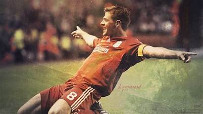 Gerrard Celebration Desktop Steven Liverpool Sliding Wallpapers