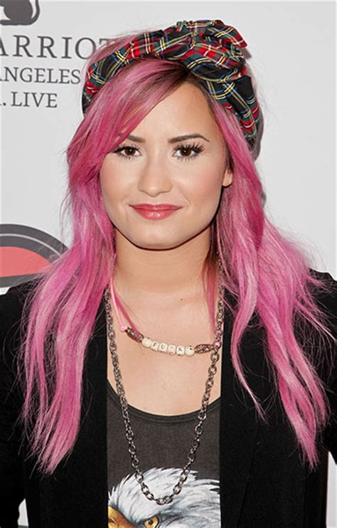 celebrities   experimented  pink hair photo
