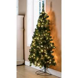 holiday time pre lit 6 half corner artificial christmas tree clear lights christmas decor