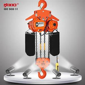 China Heavy Duty 10t To 50t Electric Chain Hoist With Hook