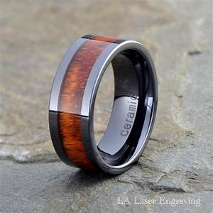 Wood Ceramic Wedding Band Mens Ceramic Ring Ceramic Wood