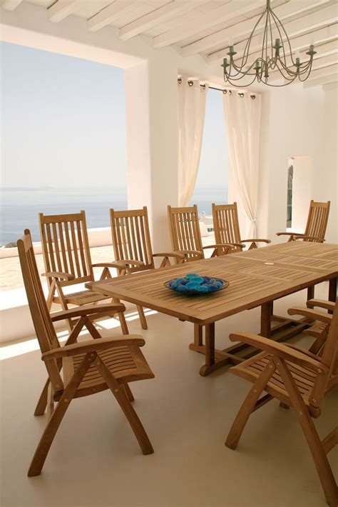 ascot collection solid folding teak outdoor furniture