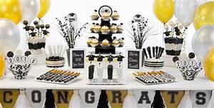 Black, Gold & Silver Graduation Baking Supplies - Party City