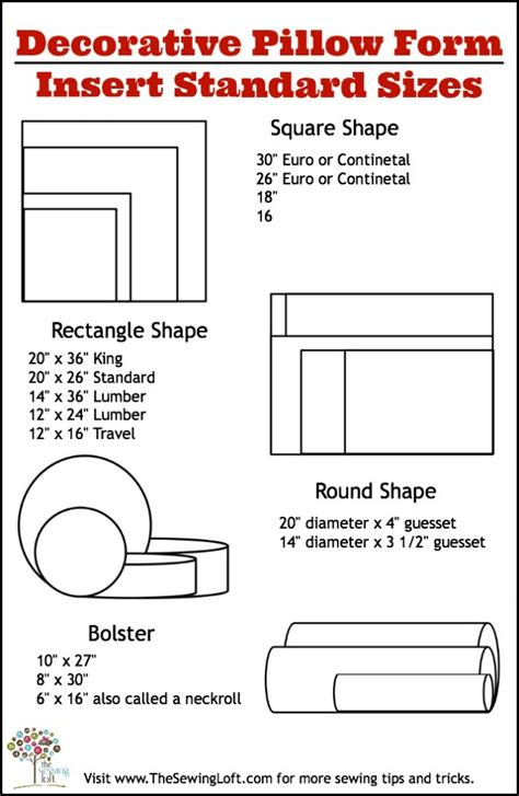 bed cusions pillow sizes chart product sizes evineblankets ayucar com