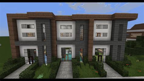 minecraft modern house designs  modern house row youtube