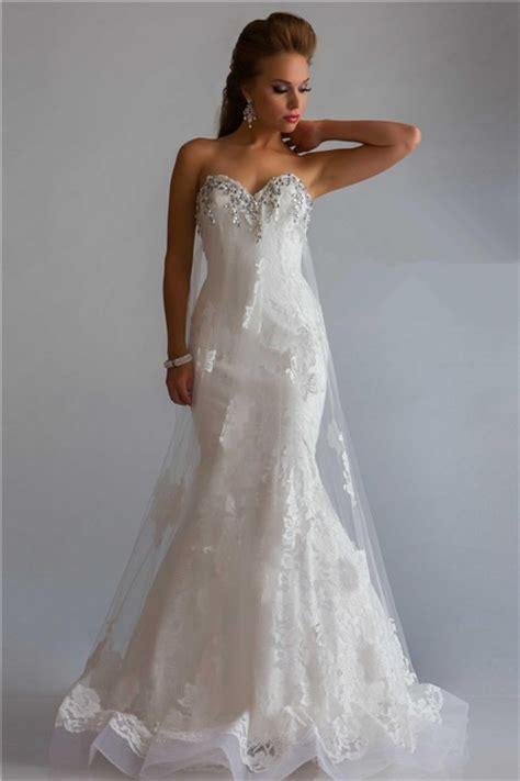 princess mermaid sweetheart   long white lace tulle