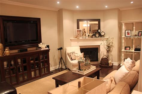 Layout Tv Coffee Table Couch And Fireplace Apartment