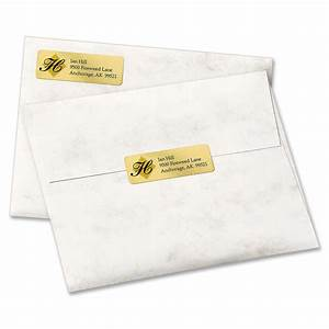 avery gold foil mailing label ld products With avery 8987 template