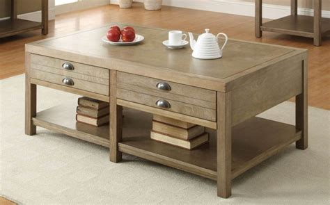 For family game night, have board games easily accessible if your coffee table with storage has an open shelf, consider displaying vases or sculptures as a decorative touch. Coaster Furniture Light Oak Wood Storage Coffee Table | The Classy Home