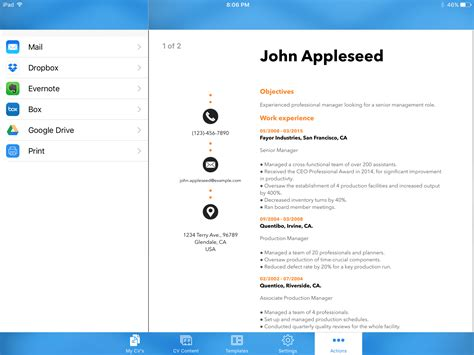 Resume Creator Pdf by 8 Cheap Or Free Resume Builder Apps