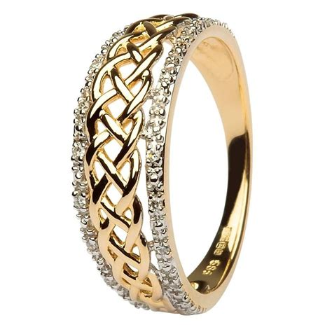 ladies celtic knot diamond ring