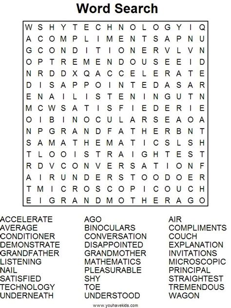 printable word searches for adults printer friendly