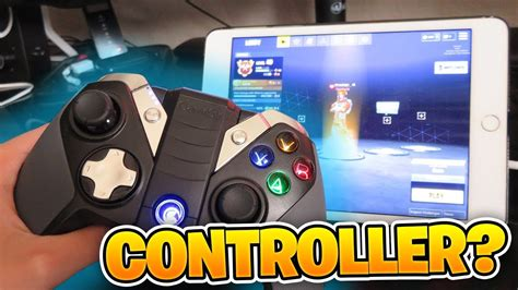 playing fortnite mobile  ipad   controller youtube