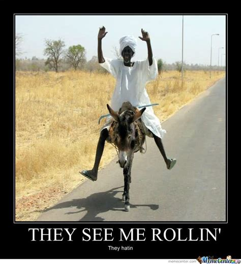 They See Me Rollin They Hatin Meme - donkey meme they see me rollin they hatin picsmine