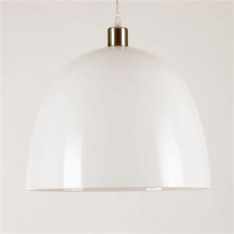 modern white glass ceiling shade for hanging pendant light