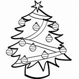 Tree Christmas Coloring Pages Printable Navidad sketch template