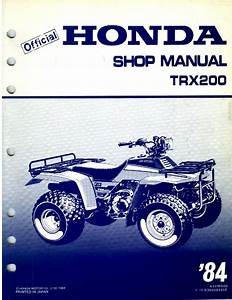 Honda Fourtrax 200 1984 Service Manual Pdf Download