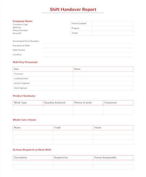sle handover report 16 documents in pdf word docs