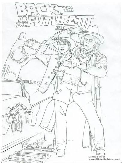 Future Coloring Pages Bttf Deviantart Drawings Sonser