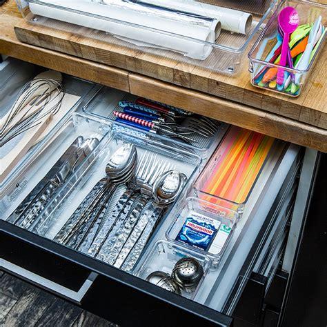 organisateur de tiroir cuisine séparateur de tiroir couverts acrylique rangement cuisine
