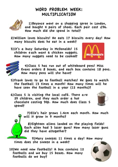 multiplication word problems ks2 year 5 by bethyevans teaching resources