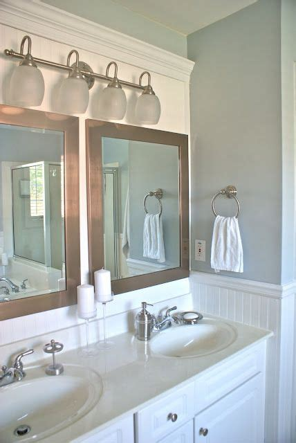 Two Mirrors In Bathroom by Master Bath Vanity 2 Mirrors 1 Light Fixture For The