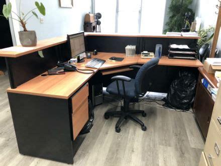 used office furniture kitchener reception corner desk unit kitchener waterloo used