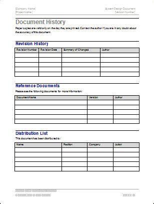 software design document template design document template my software templates