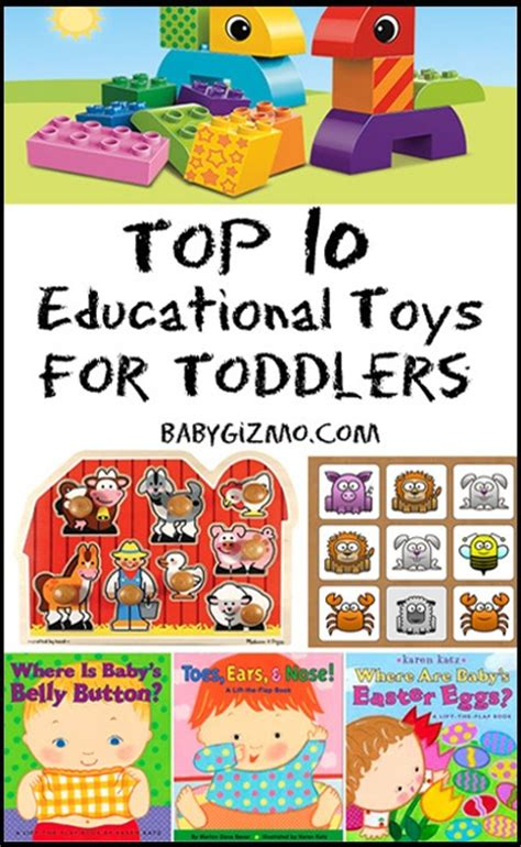 The Top Ten Educational Toys For Toddlers  Baby Gizmo