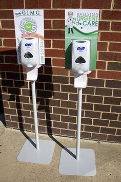 hand sanitizer stands purell dispensers
