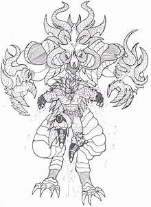 Goku Ssj3 Vs Demon King By Bender18 On Deviantart