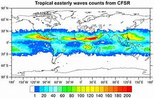 Tropical Easterly Wave Counts Within Each 2  Bullet  U00d7 2