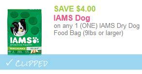 62368 Iams Coupons by Save 4 00 On Iams Food