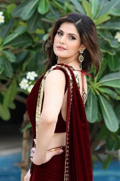 Khan Zarine Saree Hindi Heroine Panjabi Bollywood