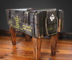 Designer Home Surplus Ammo Crate Table At 434 I 39 M Pretty Sure I Could Get