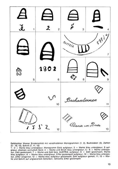 Porzellanmarken Stempel übersicht by Wiener Porzellan Marken