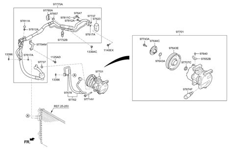 Hyundai Accent Air Conditioning System Cooler Line