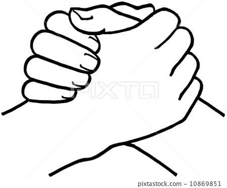arm wrestling, arm-wrestling, grip - Stock Illustration ...