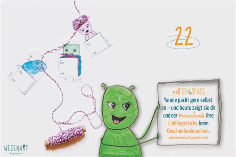 Adventskalender 22 Dezember  Geschenke Verpacken