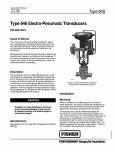 646 Transducer Instruction Manual By Rmc Process Controls